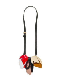 Marni Leather necklace with two-color flowers in calfskin Woman