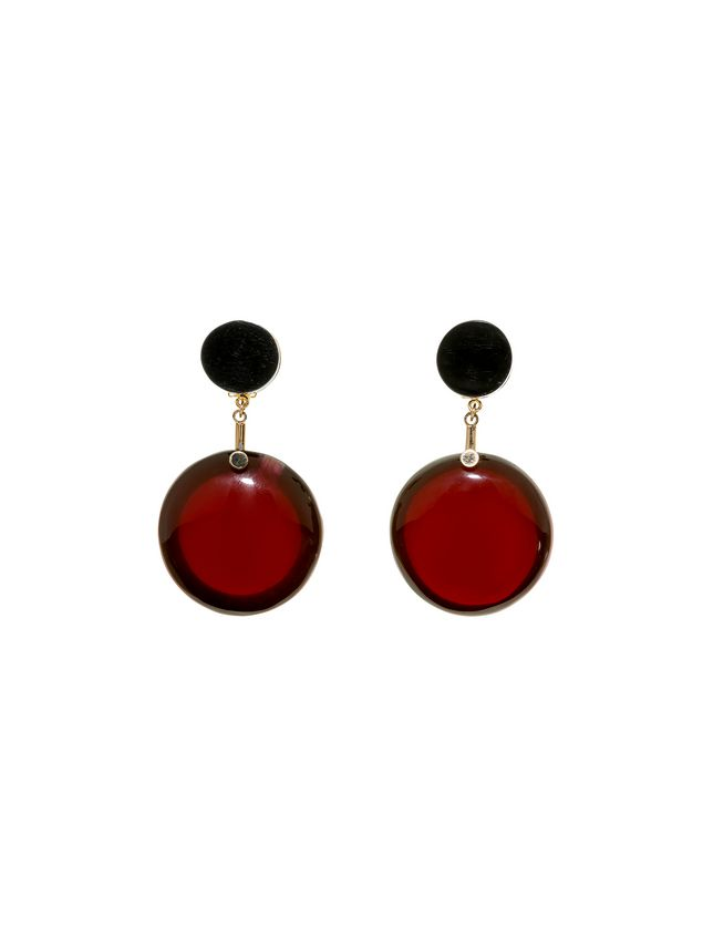jewelry product lyst in normal resin round earrings marni black