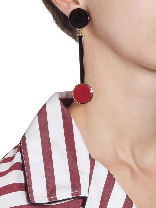 Marni Round clip-on earrings in acrylic resin Woman - 2