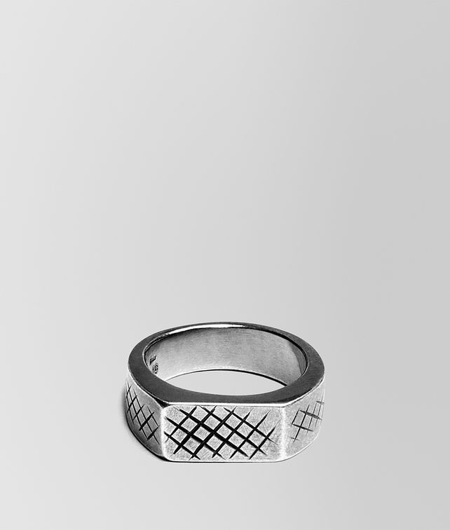 BOTTEGA VENETA RING IN SILVER WITH INTRECCIATO DETAILS Ring Man fp