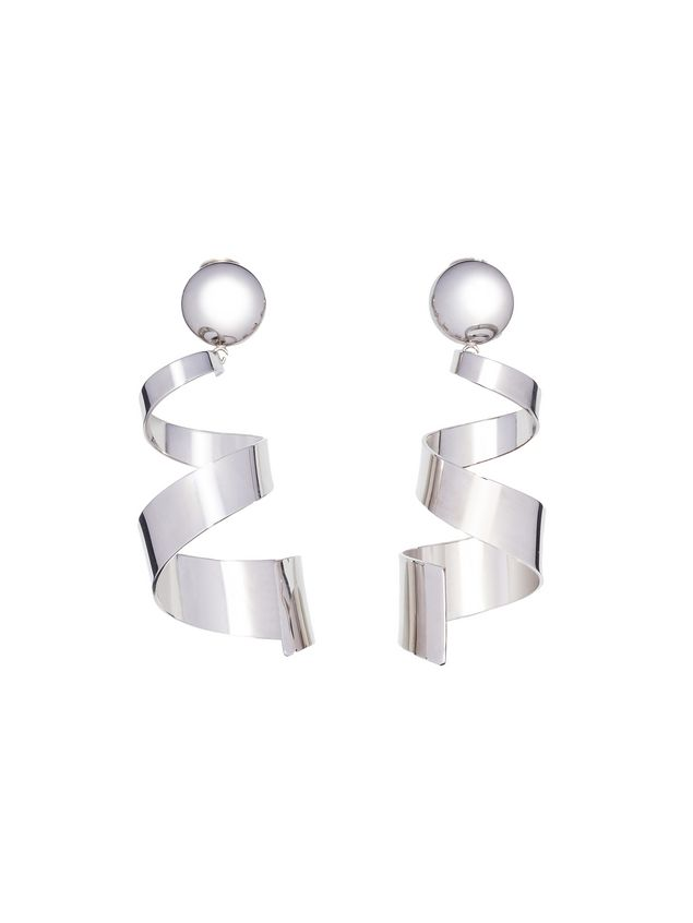 Marni Runway clip-on twist earrings in metal Woman - 1