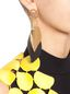 Marni Leaf-shaped clip-on earrings in metal and leather  Woman - 3