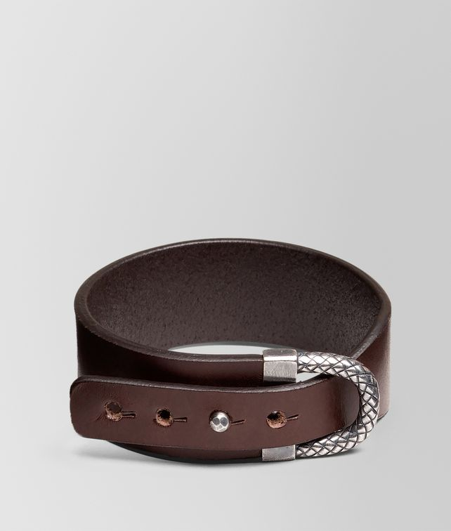 BOTTEGA VENETA BRACELET IN PEPE CALF AND SILVER WITH INTRECCIATO DETAILS Bracelet U fp