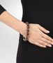 BOTTEGA VENETA BRACELET IN INTRECCIATO SILVER AND SMOKY QUARTZ STONES Bracelet D ap