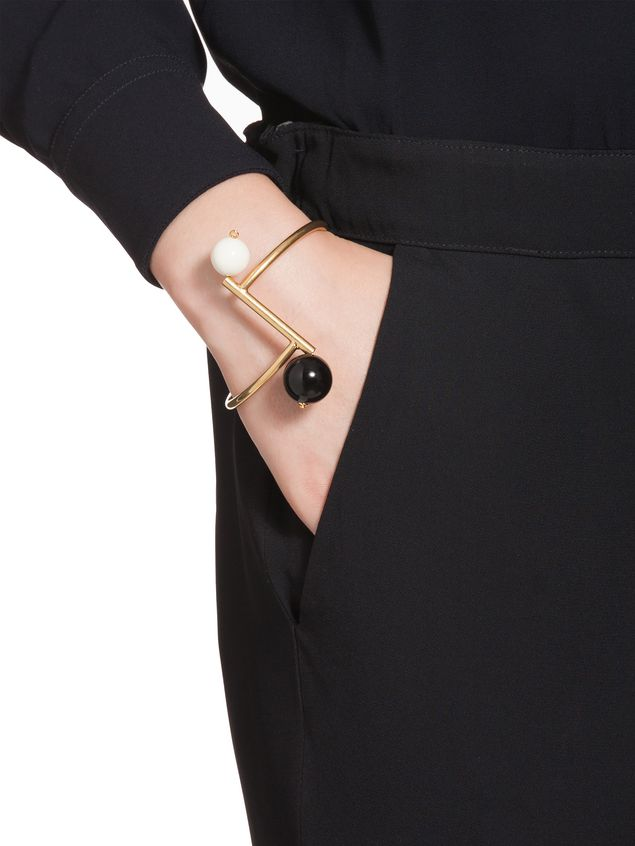 Marni Bracelet in gilded metal and resin Woman - 2