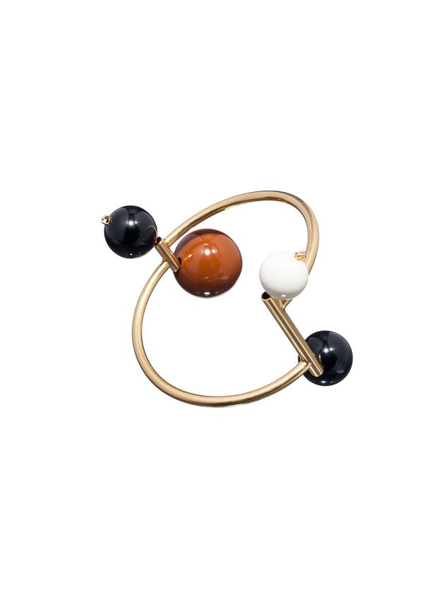 Marni Bracelet in gilded metal and resin Woman - 1