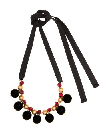 Marni Necklace in rhinestone with adjustable length  Woman