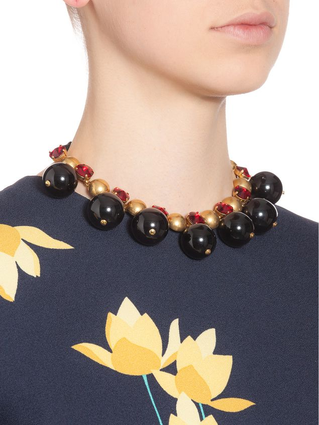 brown stone duro necklace pietro tradesy ribbon authentic marni nwt and i