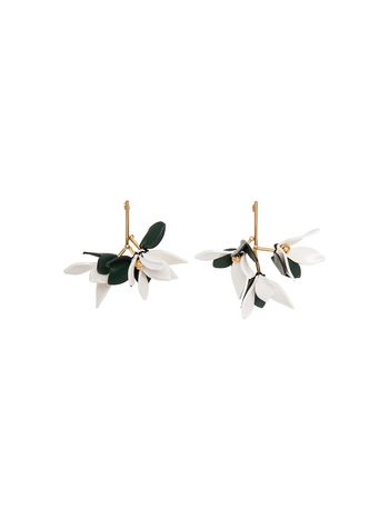 Marni Earrings in leather with butterfly clasp Woman