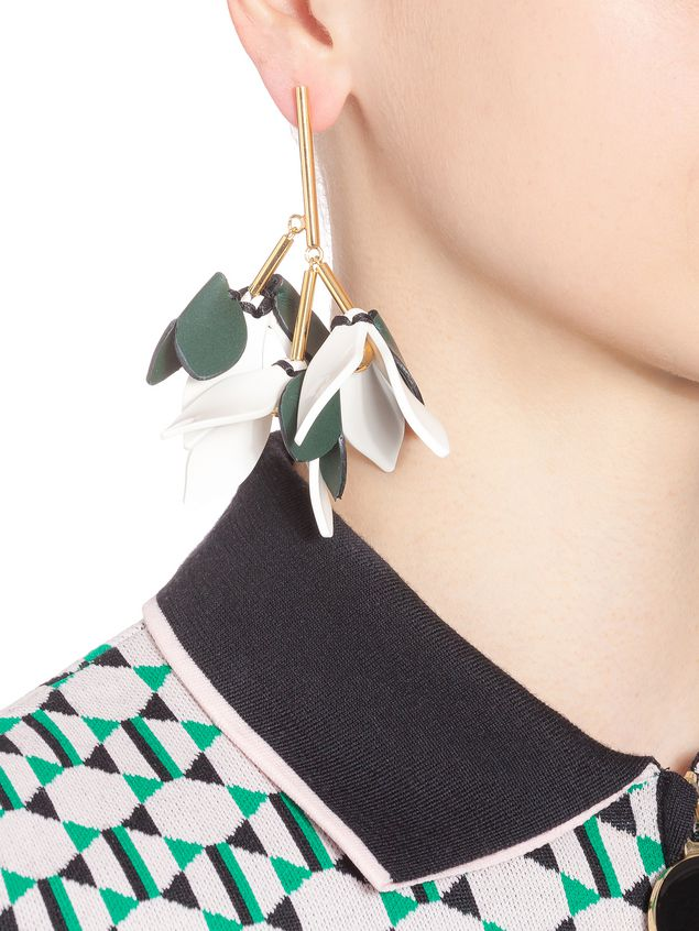 Marni Earrings in leather with butterfly clasp Woman - 2