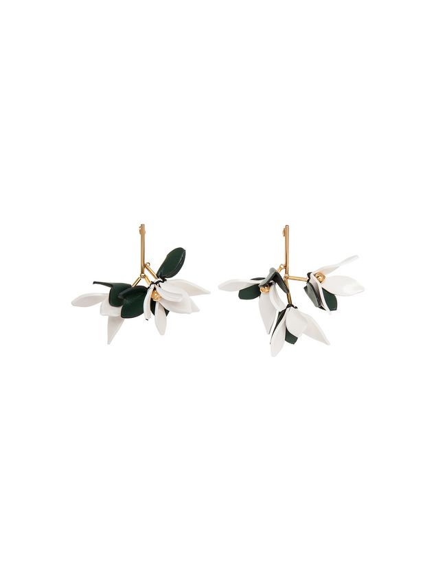 Marni Earrings in leather with butterfly clasp Woman - 1