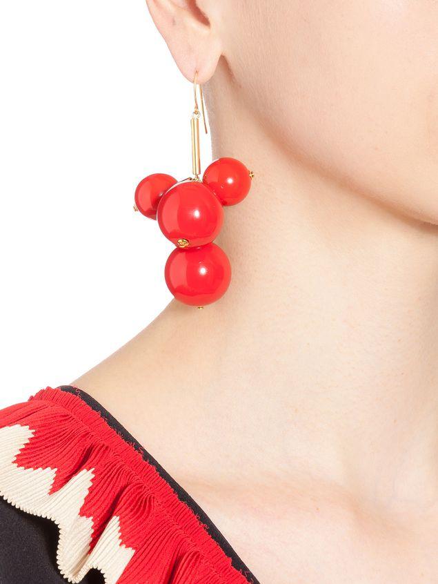 Marni Leverback earrings in resin and gold metal  Woman - 2