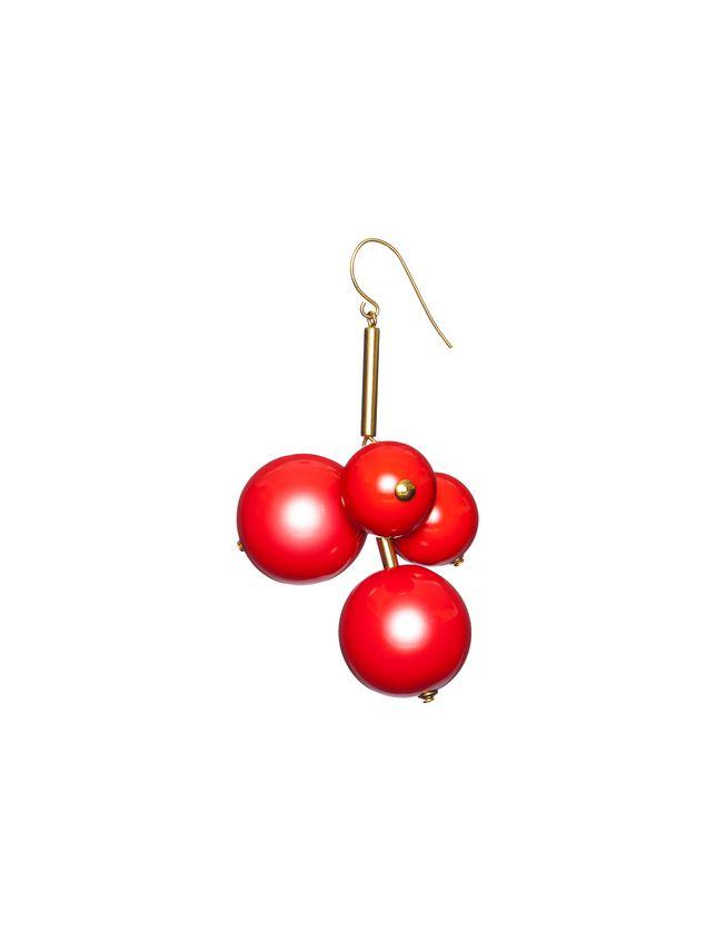 Marni Leverback earrings in resin and gold metal  Woman - 1