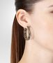 BOTTEGA VENETA EARRINGS IN INTRECCIATO SILVER AND TOURMALINE STONES WITH YELLOW GOLD ACCENTS Earrings Woman ap