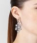 BOTTEGA VENETA EARRINGS SILVER AND NATURALE CUBIC ZIRCONIA Earrings Woman ap