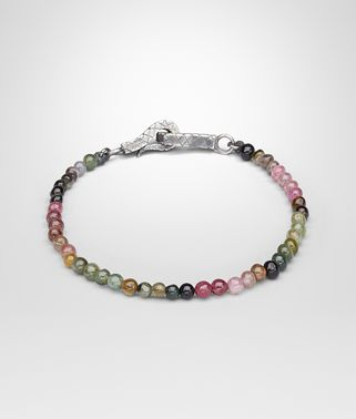 BRACELET SILVER AND TOURMALINE STONES, INTRECCIATO DETAIL