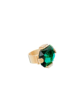 Marni Wrap around ring in metal and rhinestone Woman