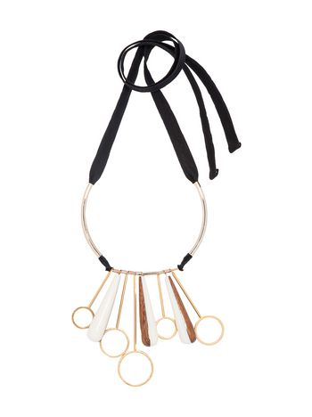 Marni Necklace in resin, metal and wood Woman