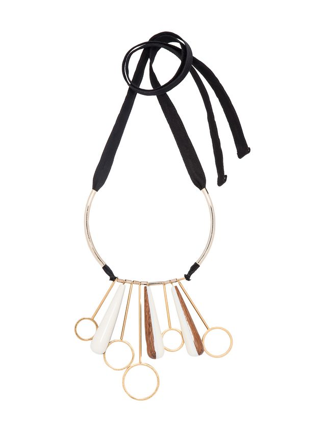 Marni Necklace in resin, metal and wood Woman - 1