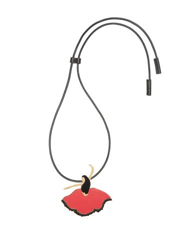 Marni Necklace in metal, leather and enamel Woman