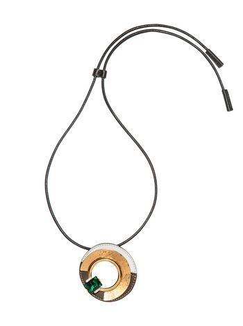 Marni Necklace in metal, leather and glass Woman
