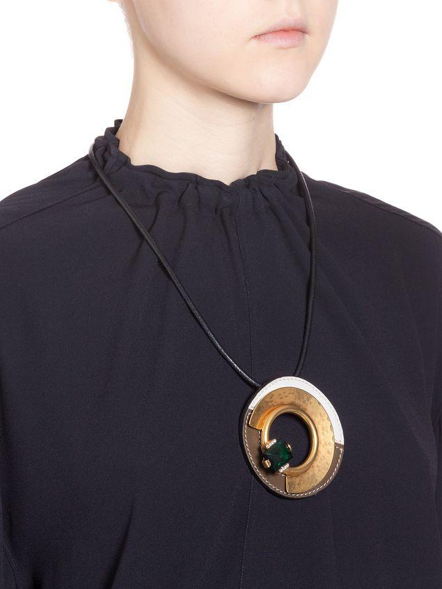 Marni Collana in metallo, cuoio e vetro Donna - 2