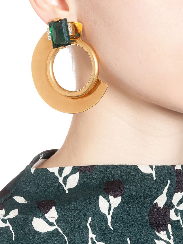Marni Clip-on earrings in gold metal Woman - 2