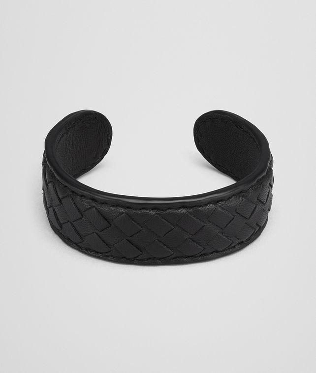 BOTTEGA VENETA BRACELET IN NERO MICROINTRECCIATO NAPPA Keyring or Bracelets Woman fp