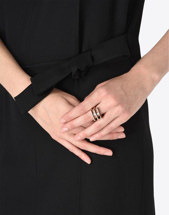 MAISON MARGIELA 11 Double 'Floating stone' ring Ring D b