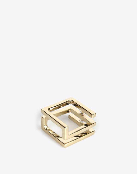 MAISON MARGIELA 11 Double 'Floating stone' ring Ring D d