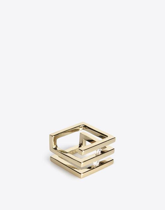MAISON MARGIELA 11 Double 'Floating stone' ring Ring D r