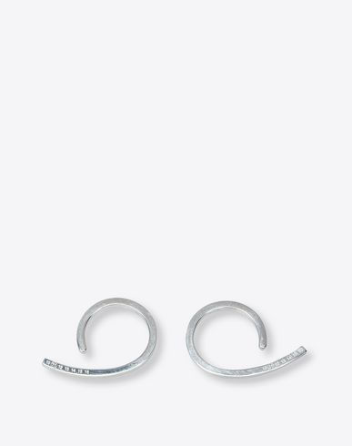 MAISON MARGIELA 11 Earrings D Silver loop earrings f