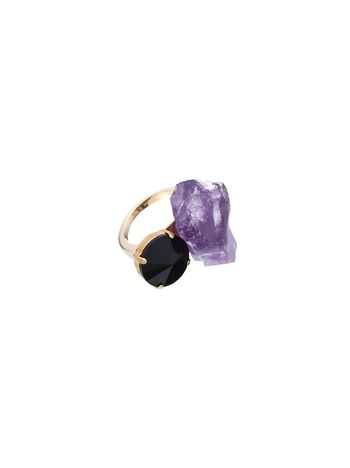 Marni Ring with semi-precious amethyst Woman