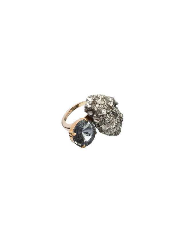 Marni Ring with semi-precious pyrite Woman - 2