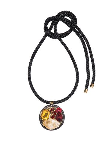 Marni Necklace in citrine and cord Woman