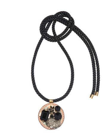 Marni Necklace in pyrite and cord Woman