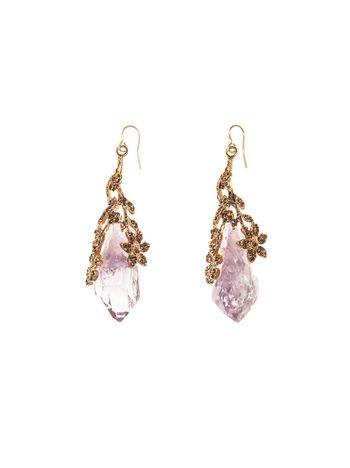 Marni Leverback earrings in amethyst and rhinestone Woman
