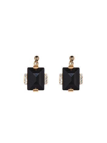 Marni Screw back earrings in metal and rhinestone Woman