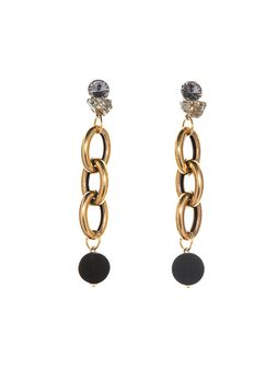 Marni Runway earrings in metal, chain pendant Woman