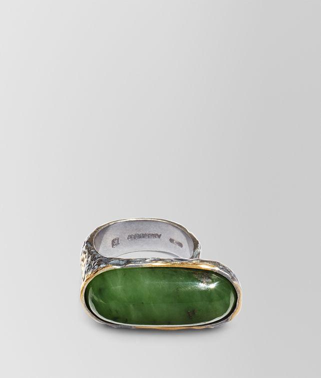 BOTTEGA VENETA RING IN JADE SILVER, YELLOW GOLD ACCENTS Ring Woman fp