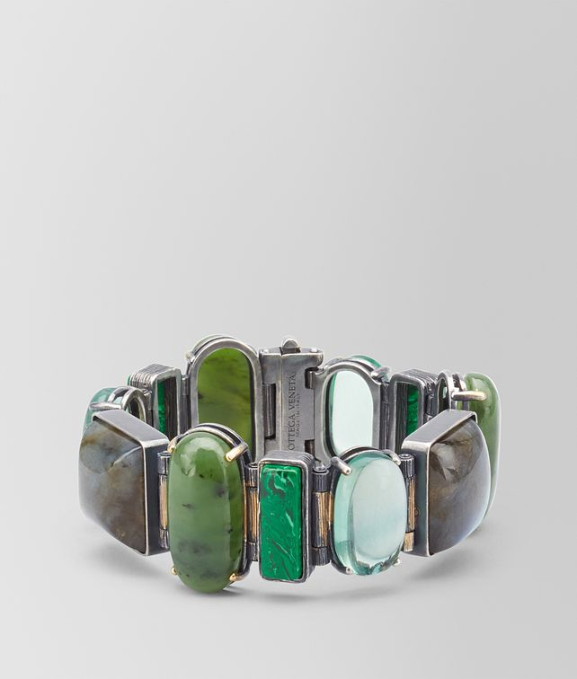 BOTTEGA VENETA BRACELET IN GEMSTONES AND SILVER, YELLOW GOLD ACCENTS Bracelet Woman fp