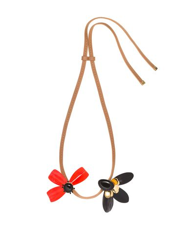 Marni Length-adjustable necklace in horn Woman