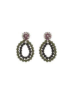 Marni Clip-on crystal earrings Woman