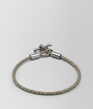 BRACELET IN FUME NEW INTRECCIATO NAPPA AND SILVER
