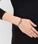 BOTTEGA VENETA BRACELET IN FUME NEW INTRECCIATO NAPPA AND SILVER Bracelet Woman ap
