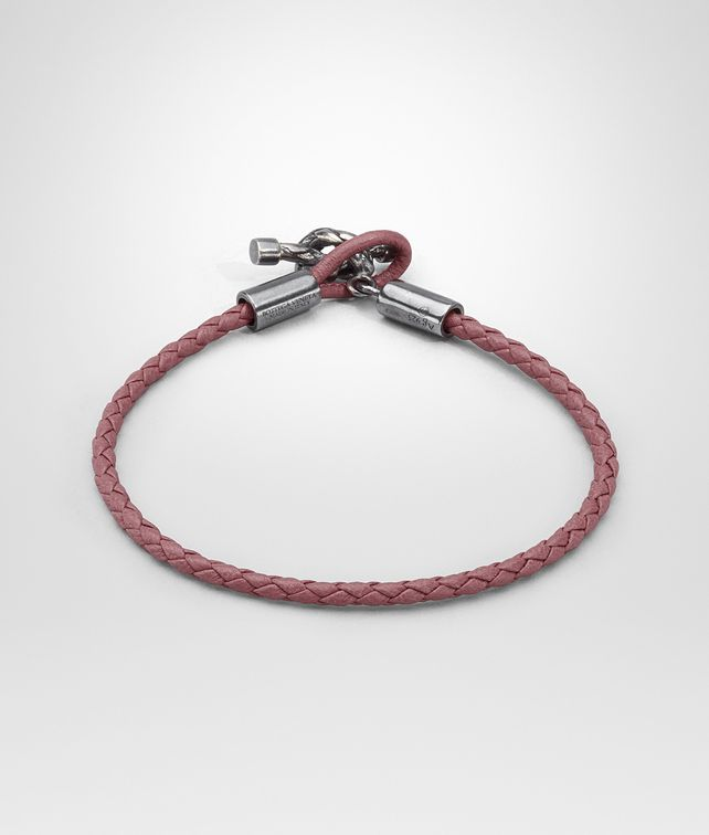 BOTTEGA VENETA BRACELET IN DUSTY ROSE INTRECCIATO NAPPA AND SILVER Bracelet D fp
