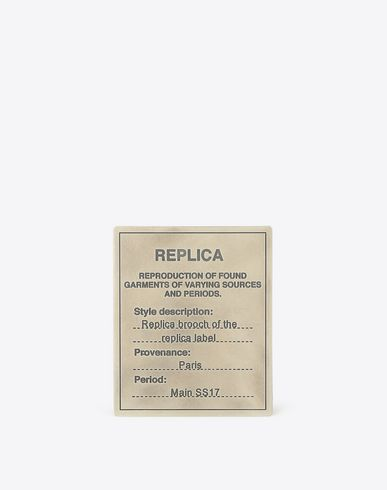 MAISON MARGIELA Brooch U Replica silver brooch f