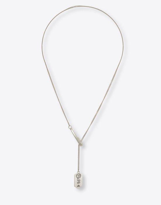 Maison margiela price tag necklace men maison margiela price tag necklace necklace man f aloadofball Images