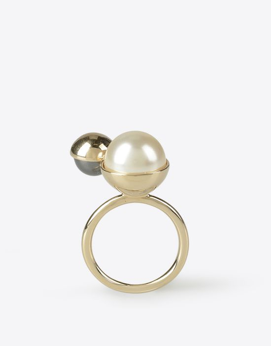 MAISON MARGIELA Two-pearls ring Ring D f
