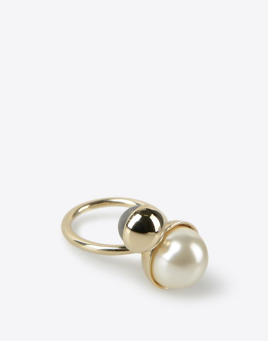 MAISON MARGIELA Two-pearls ring Ring D r